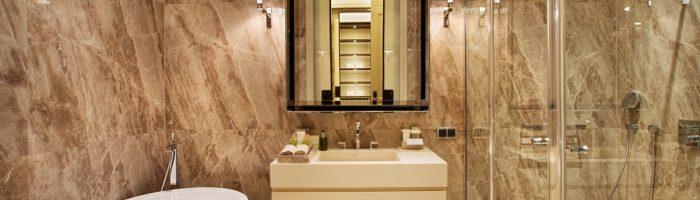עיצוב והתאמה של שיש לחדר האמבטיה