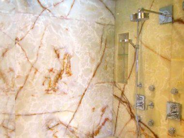 חיפוי פנים  אמבטיה אוניקס