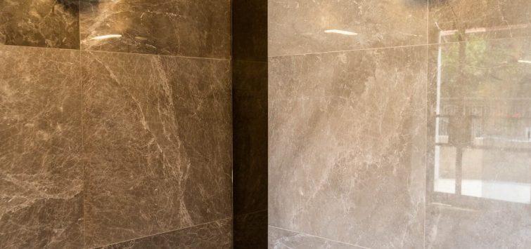 תמונה של שני הקירות בשיפוץ מרהיב ללובי בירושלים